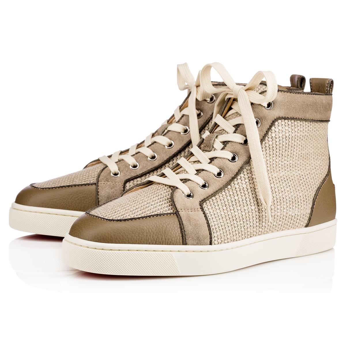 77ef5ba3ab87 Christian Louboutin Rantus Orlato Flat Sneakers In Poivre Vert ...