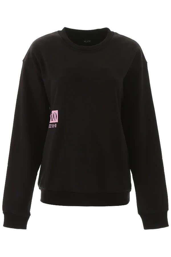 Muf10 Moon Map Sweatshirt In Black