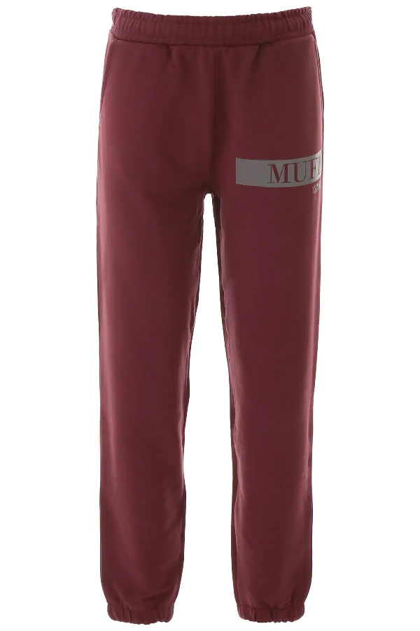 Muf10 Logo Joggers In Red