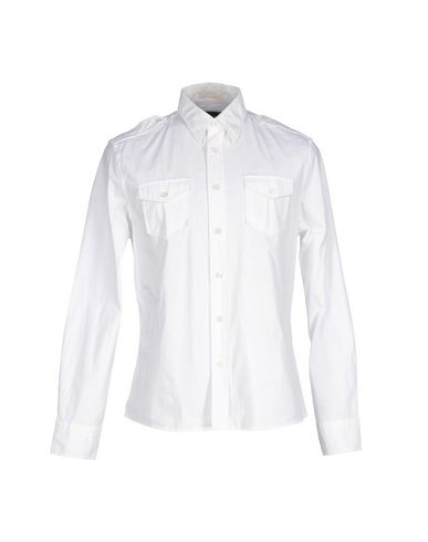 Blauer Shir In White Linent In Bianco
