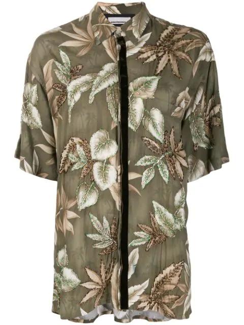 Night Market Hawaii Short-sleeve Shirt In Green