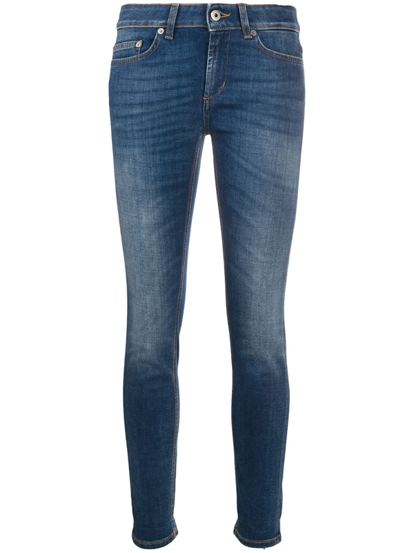 Dondup Cropped Skinny Jeans In Blue