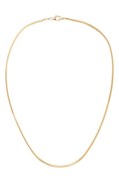 Lana Thin Liquid Gold Choker Necklace In Yellow Gold