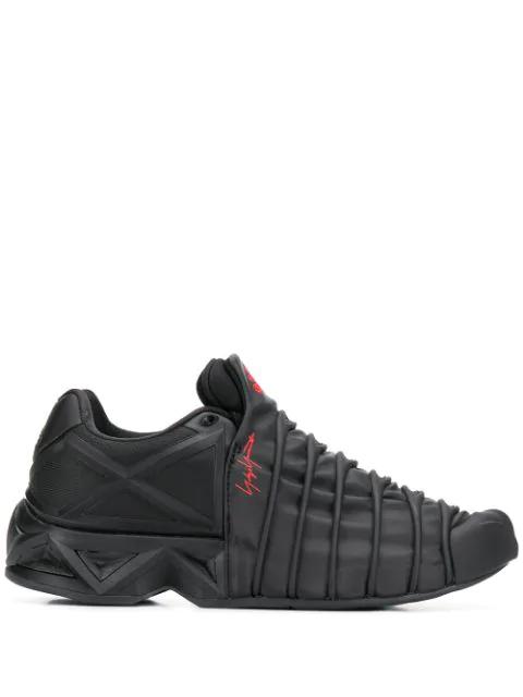 Y-3 Yuuto Webbed Sneakers In Black