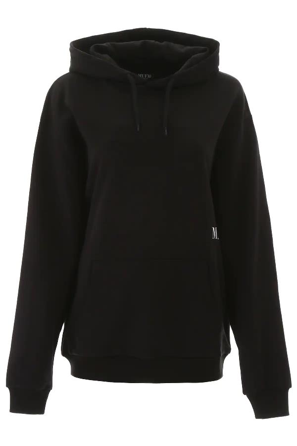 Muf10 Logo Print Hoodie In Black