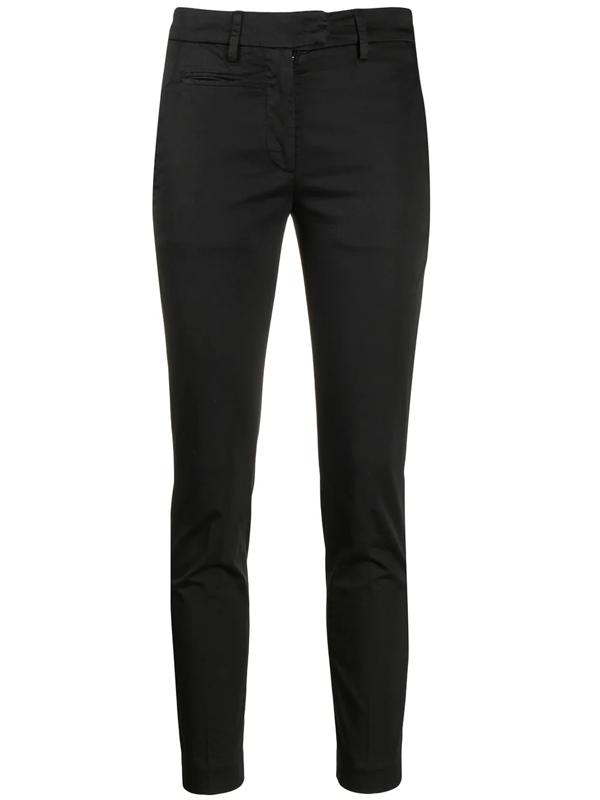 Dondup Elastic Fit Trousers In Black