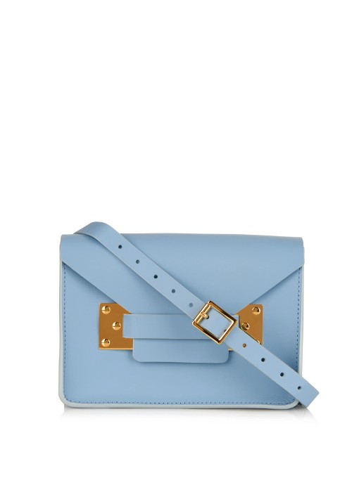 Sophie Hulme Ssense Exclusive Blue Nano Milner Envelope Bag In Sky-blue