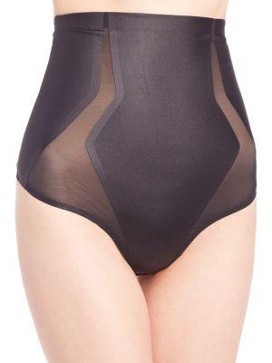 cc5875e1546402 Spanx Haute Contour High-Waist Thong In Very Black | ModeSens