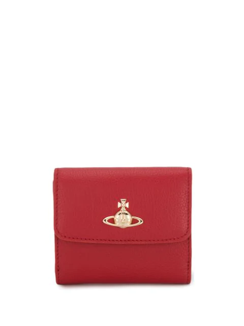 Vivienne Westwood Orb Logo Wallet In 2833 Red
