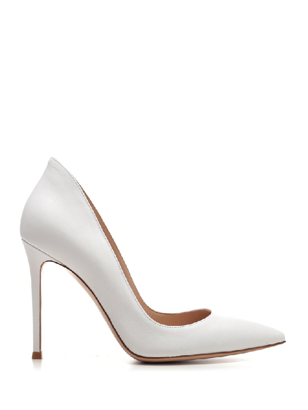 Gianvito Rossi Pointed Toe Pumps In White