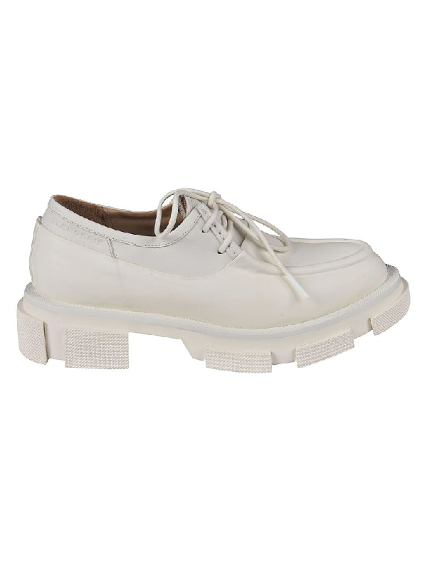 Robert Clergerie Bigup Lace-up Shoes In White