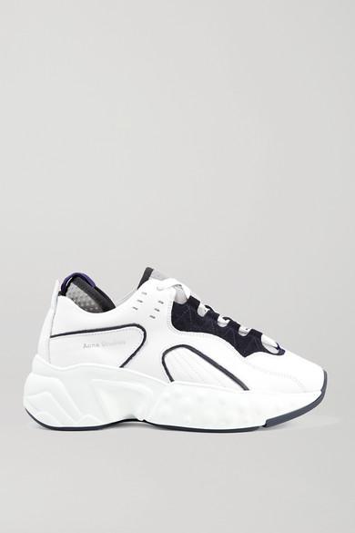 Acne Studios Low-top Sneakers Manhattan Calfskin Logo White