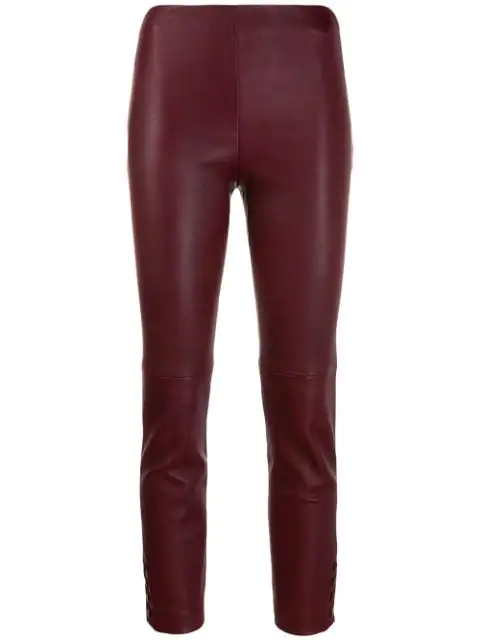 Theory Snap Leggings In Mulberry