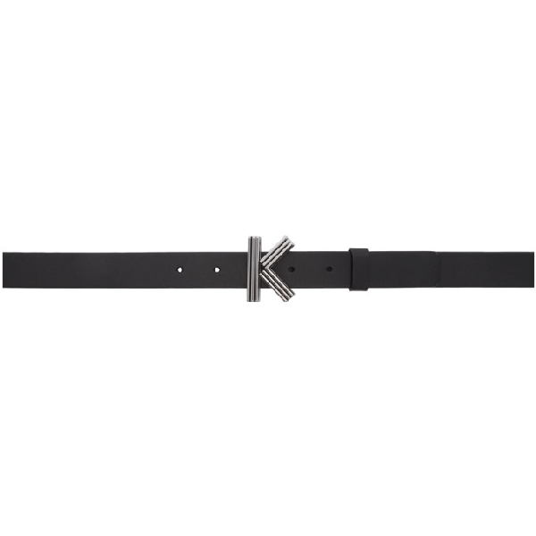 Kenzo Thin K-Bag Belt In 99 Black