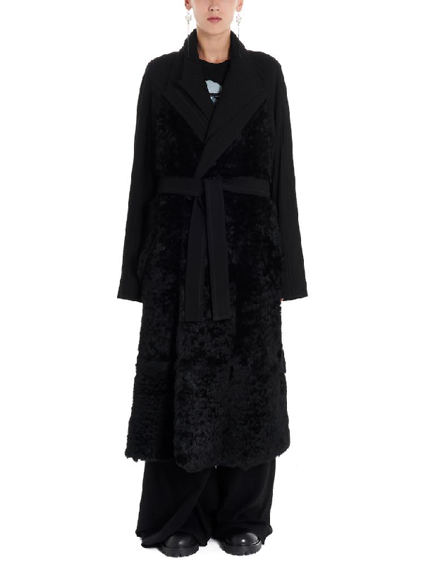 Ann Demeulemeester Trench In Black