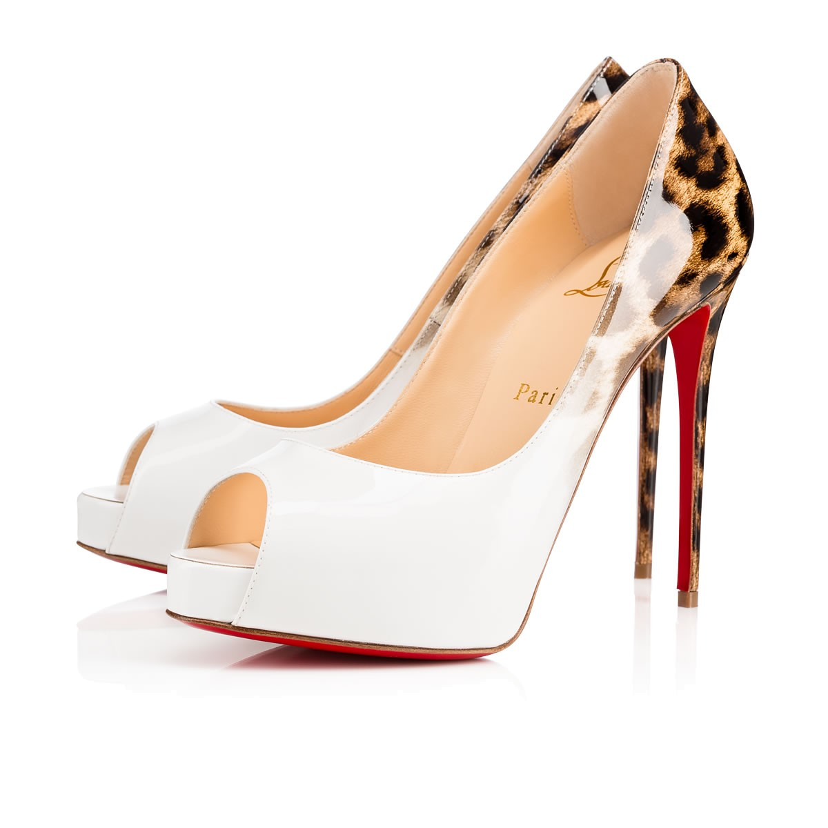 c4129180973 Christian Louboutin New Very Prive In Latte-Leopard | ModeSens