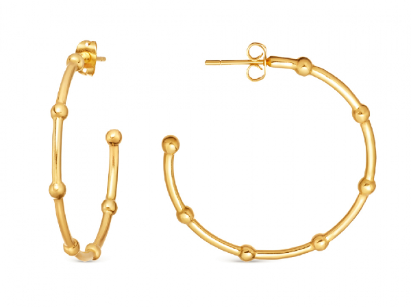 Missoma Lucy Williams Gold Large Orb Hoops