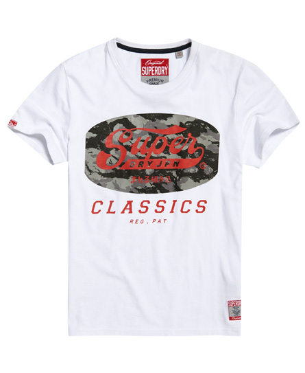 Superdry Tin Tab T-shirt In White