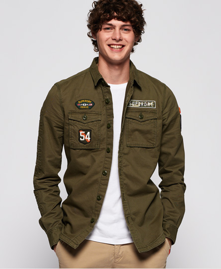 Superdry Miltary Storm Shirt In Green