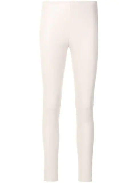 Manokhi Leather Leggings In Pink