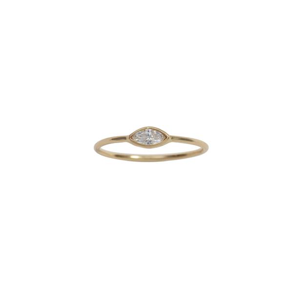 Ariel Gordon Jewelry Marquis Diamond Ring In Black