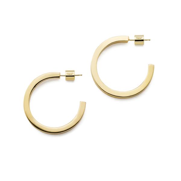 Jennifer Fisher Gwyneth Hoops Earring In Yellow Gold
