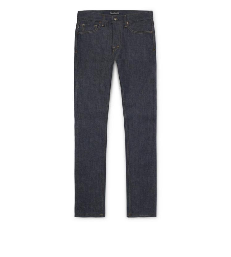 Tom Ford Straight Vintage Selvage Jeans In Navy