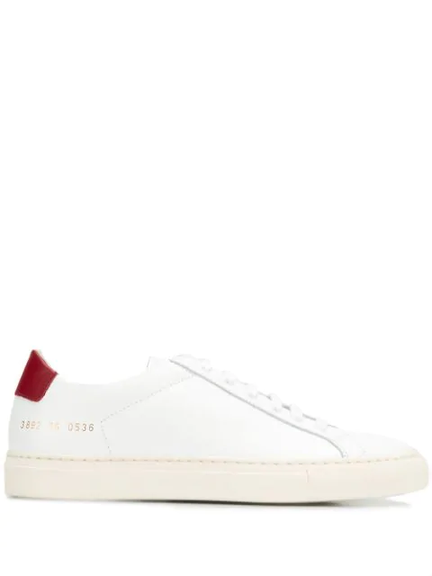 Common Projects Retro Low Sneaker In White/red