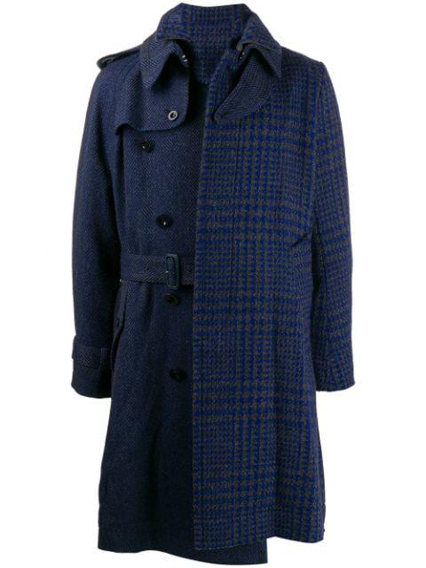 Sacai Deconstructed Coat In 310 Grayblue
