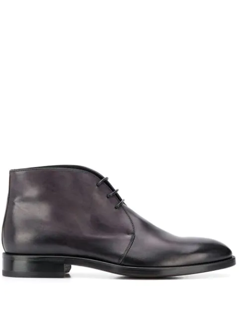 Scarosso Lace Up Boots In Black
