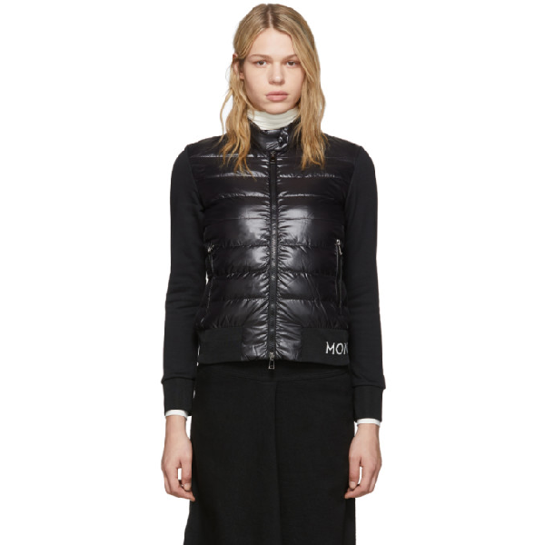 Moncler Cotton-jersey Down Jacket In 999 Black