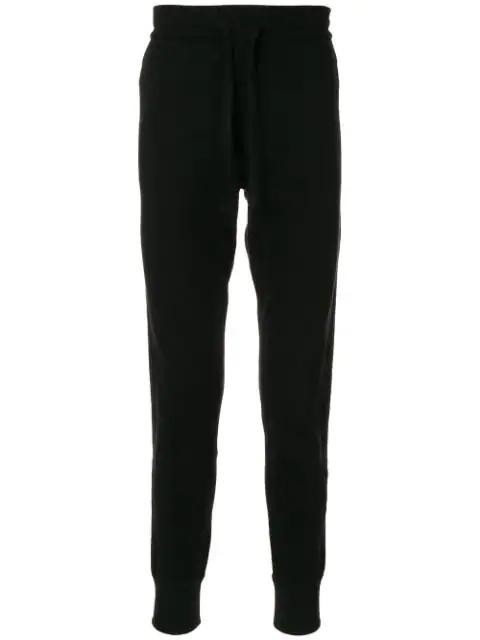 Dolce & Gabbana Cuffed Stripe-detail Track Pants In Black