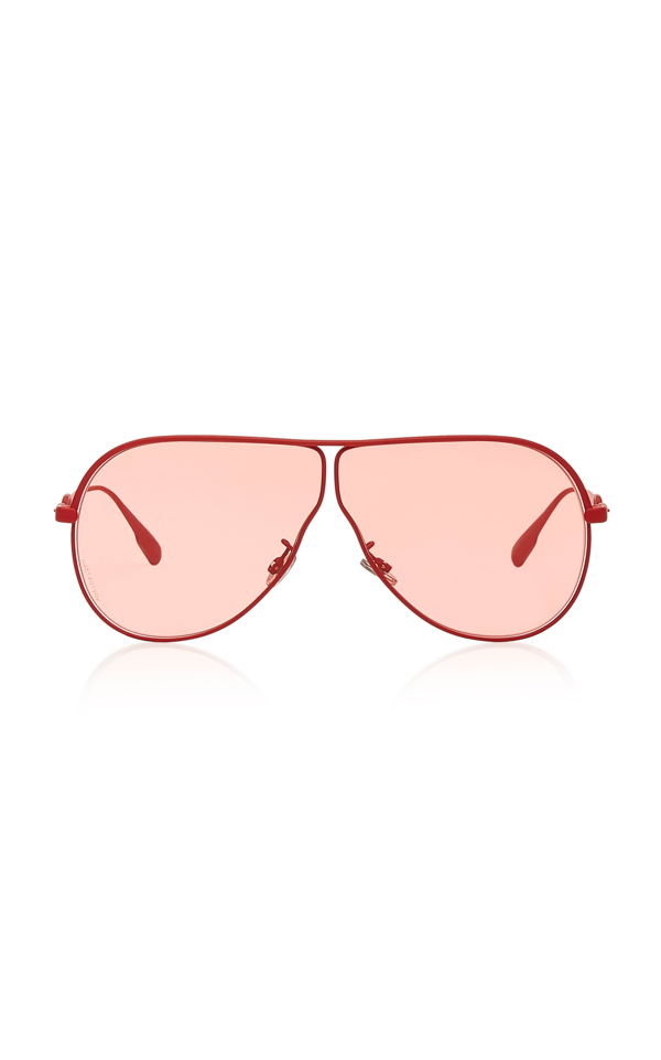 Dior Camp Aviator-style Metal Sunglasses In Red