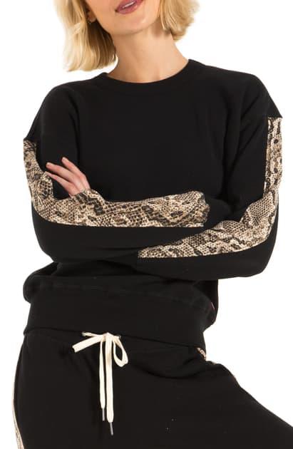 N:philanthropy Azure Sweatshirt In Sand Python