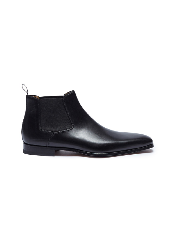 Magnanni Saburo Water Resistant Chelsea Boot In Black Leather