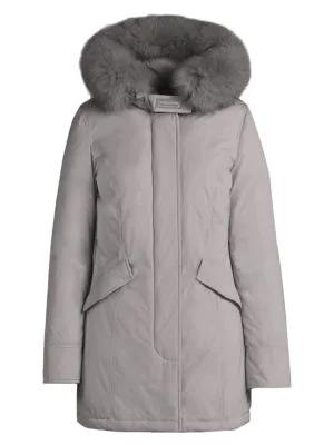 Woolrich Women's Luxury Arctic Fox Fur Trim Parka In Coffee Liq
