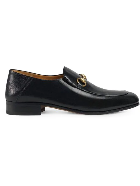 Gucci Horsebit Leather Loafer In 1000 Black