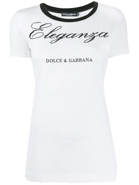 Dolce & Gabbana Short-sleeved Jersey T-shirt With Embroidery In W0800 White