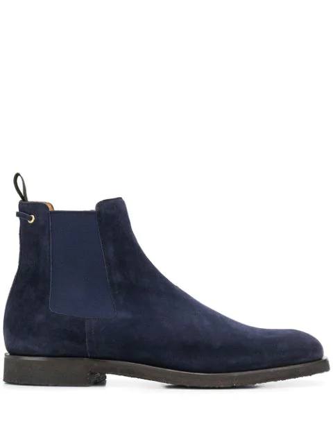Car Shoe Suede Chelsea Boots In Blue
