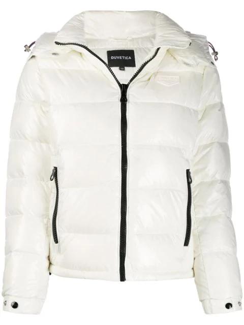 Duvetica Nu Scorpii Puffer Jacket In White