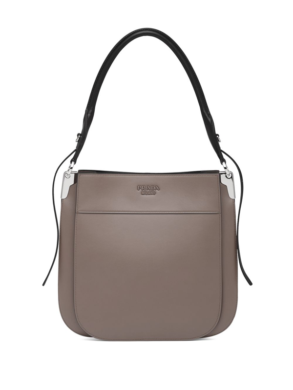 Prada Margit Shoulder Bag In Grey