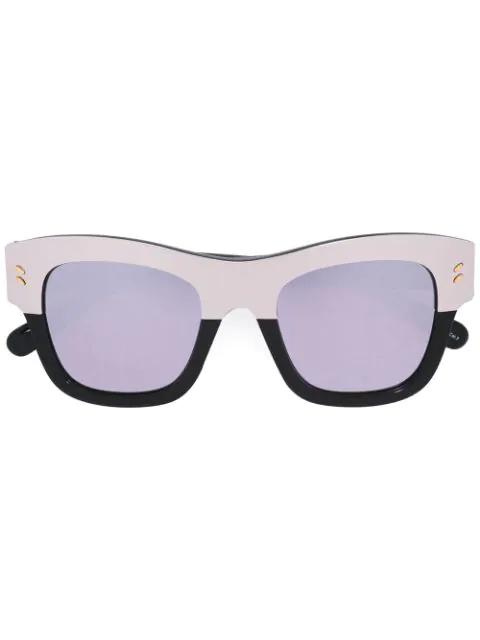 Stella Mccartney Two-tone Oversized Square Sunglasses In Metallic