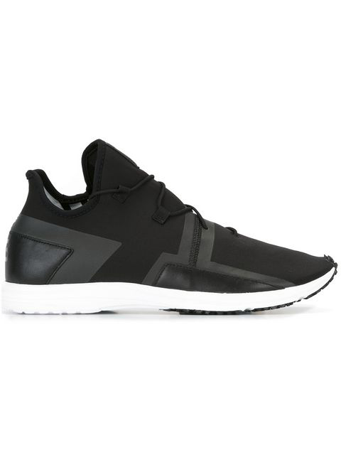 a0b79f7533f97 Y-3 Arc Rc Leather-Trimmed Neoprene Sneakers In Black