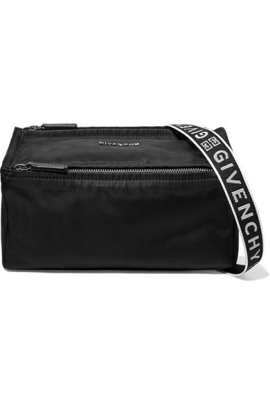 d8db9512e64 Givenchy Pandora Mini Fabric Satchel Bag With Logo Strap In Black ...