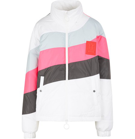 Off-white Quilted Anorak Down Jacket In Multicolor