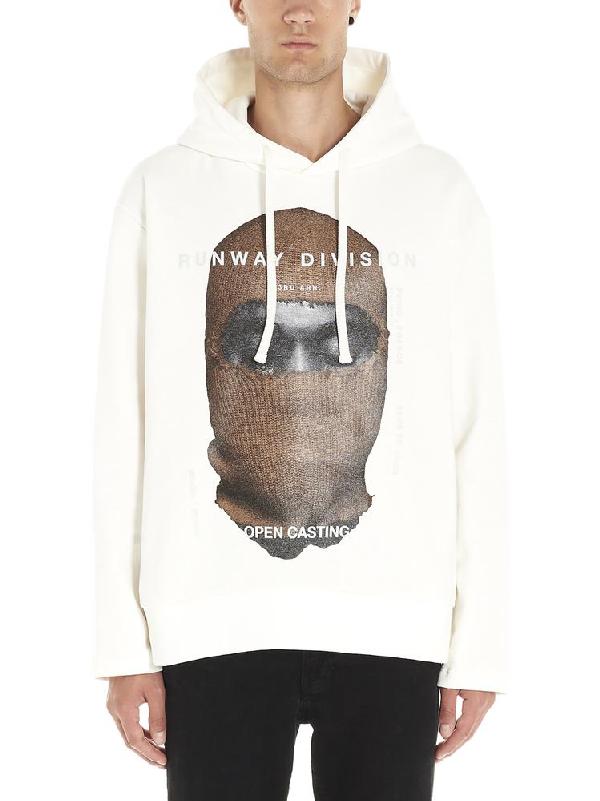 Ih Nom Uh Nit Graphic Logo Print Hoodie In White