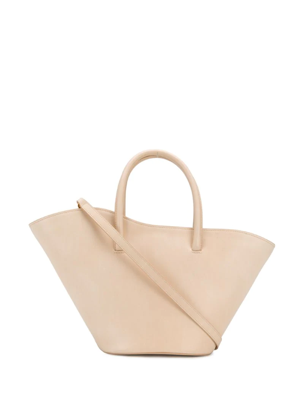 Little Liffner Large Tulip Leather Tote In Neutrals