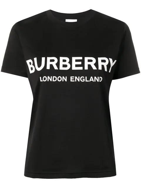 Burberry Logo-print Oversized Cotton T-shirt In Black