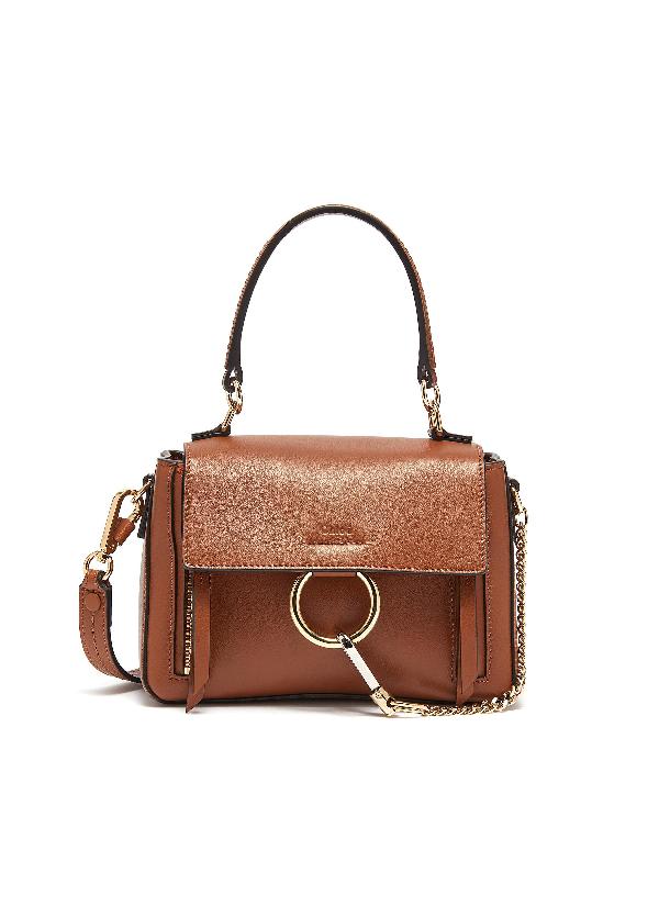 ChloÉ 'Faye Day' Mini Leather Shoulder Bag In Tan