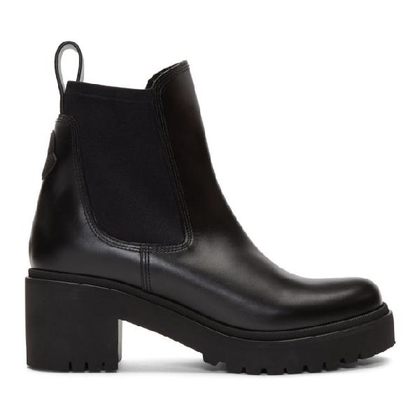 Moncler Women's Vera Block-heel Platform Booties In 999 Black